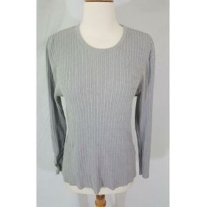 3/25 Gaddy Collection Gray Sweater XL Cable Rib